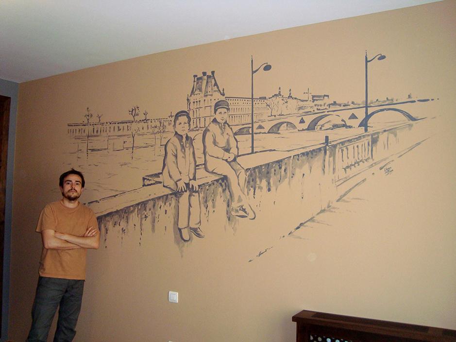 Pintura De Murales Chema Del Fresno Diseno Interiorismo